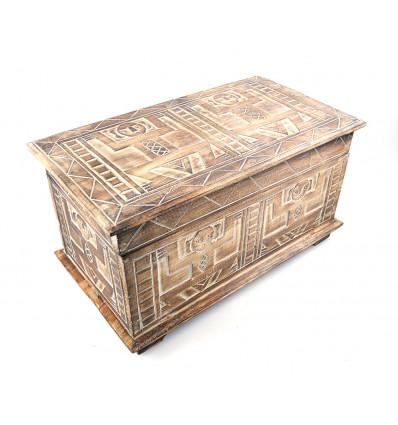 Coffre de rangement en bois style ethnique africain, achat.
