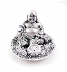 Incenso titolari cinese Buddha, con un rosario in mano