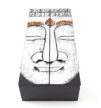Tea box, jewelry box wooden buddha. Decoration Buddha.