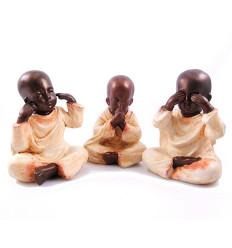 Il 3 Monaci di saggezza, le statuette del buddha in asia.