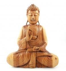 Statua scultura Buddha-Bali legno esotico, massiccio, acquista a buon mercato.