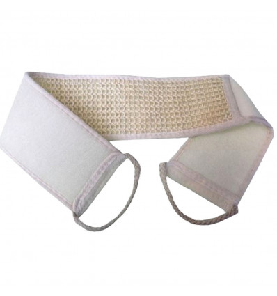Thong massage exfoliating in vegetable fiber and cotton, double face.