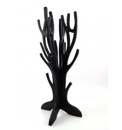 """Gioielli albero / magazzino di gioielleria di legno finitura nero """"vintage"""""""