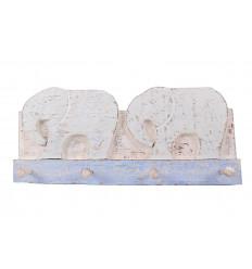 Peg in legno elefante, decorazione della stanza del bambino a casa nel mondo.