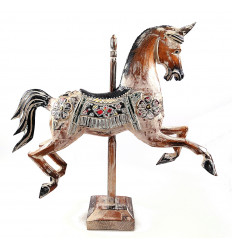 Carousel horse carousel wood statue decoration retro vintage.