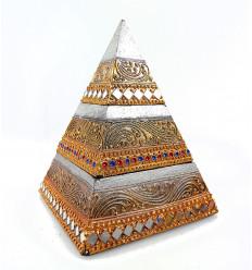 Box in legno gioielli 2 scomparti, formare una piramide.