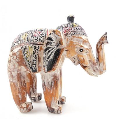 Statuette wooden elephant vintage. Purchase elephant cheap.