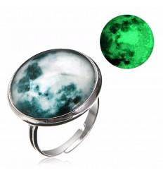 "Ring ""full moon"" phosphorescent"
