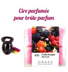 Parfum d'ambiance fruits rouges Drake, cire végétale parfumée, achat.