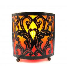 Lampe de chevet marocaine orientale fer forgé orange, achat.