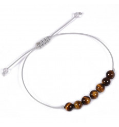 Charm Bracelet in tiger eye, self-confidence, freedom.