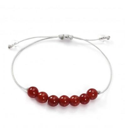 Charm Bracelet in carnelian : energy, vitality, creativity.