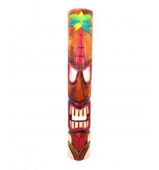 Maschera Tiki h50cm legno modello colorato. Decorazione Hawaiano Maori !