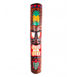 Decor wall mask Tiki and Turtle H100cm wood, form surfing.