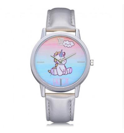 Watch child pattern unicorn, pink wristband