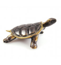 Statuette tortue de terre en bronze. Idée cadeau, collection.
