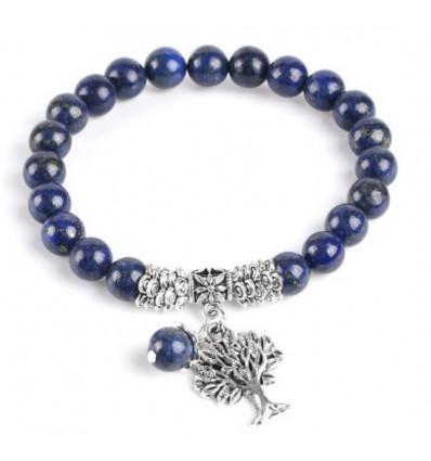 Bracelet Tree of Life - Lapis Lazuli - natural Good humor and friendship.