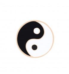 Pin's Yin Yang. Broche dorée