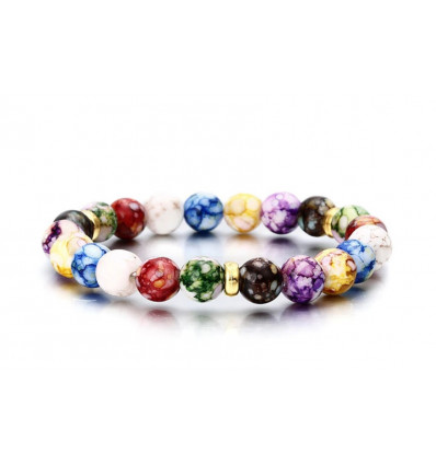 "Bracelet ""joy of living"" - pearl multi-colored"