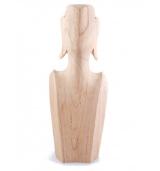 Busto Display collane e orecchini in legno massello lordo