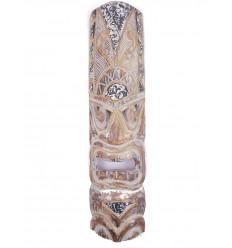 Masque tiki original. Décoration murale ethnique tahiti polynésie.
