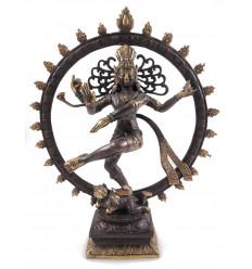 Statuetta di Shiva Nataraja in bronzo H35cm. Artigianato asiatico.