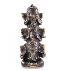 Statuette Ganesh en bronze H15cm. Artisanat asiatique.
