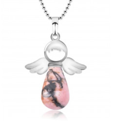 "Collier ""Mon Ange gardien"" en Rhodonite véritable"