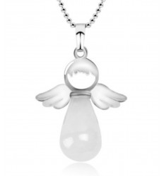 "Necklace ""My guardian Angel"" Crystal rock genuine"