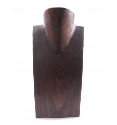 Buste presentoir a collier en bois ideal vitrine bijoutier, grossiste.