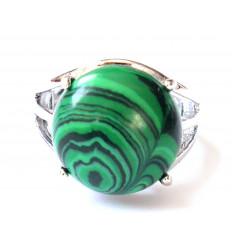 Ring Iris bearing a Malachite - Ring adjustable