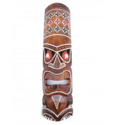 Purchase small tiki mask wood cheap. Decoration Tiki tahiti.
