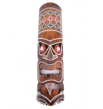 Purchase small tiki mask wood cheap. Decoration Tiki tahiti.