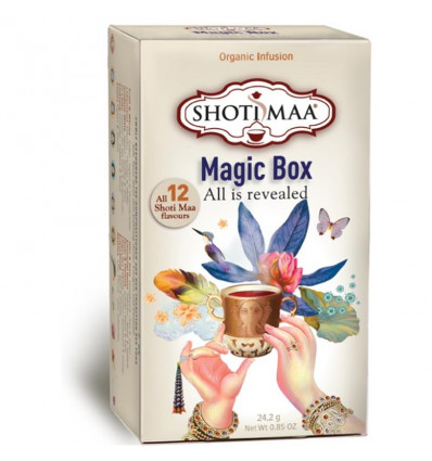 Shoti Maa Magic Box. Assortiment 12 thés et infusions bio.