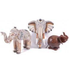 Vendita di liquidazione !!! Lotto di 4 banchi di mostra dei gioielli 2 ° scelta - legno massello marrone
