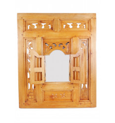 Mirror window oriental-style timber Latticework 50x60cm white.