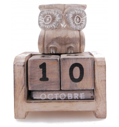 Small perpetual calendar Owl / Owl-wood. Gift child.