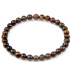 Bracelet Lithotherapie Tiger Eye-natural - Protection, self-confidence.