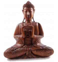 Sculpture statue Shakyamuni Buddha zen wood. Buddha Statue In Bali.