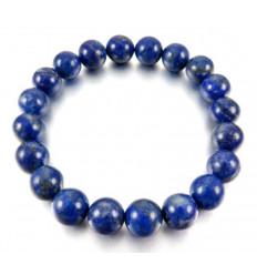 Bracciale Lithotherapie perline 10mm Lapislazzuli naturale Buon umore e di amicizia.