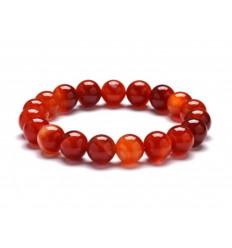 Bracelet Lithotherapie beads, 10mm Sardonyx natural - Virtue, intuition, spirituality.