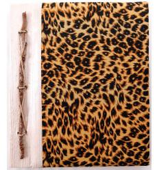 Album foto modello a macchia di Leopardo, 40 punti di vista. Costruito a mano, artigianato provenienti da Bali.