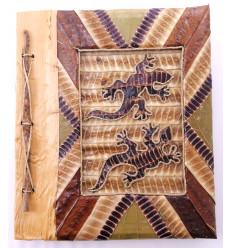 Photo Album Gecko natural, 40 views. Manufactured artisanalement.