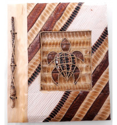 Photo Album Turtle natural, 40 views. Manufactured artisanalement.
