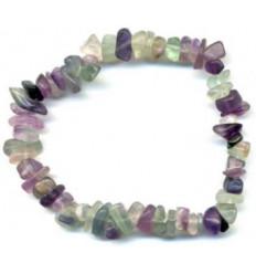 Bracelet baroque en Fluorite naturel - Anti-stress, concentration, stabilité.