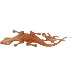 Geckos murales en bois, fabriqué artisanalement. Décoration lézard.