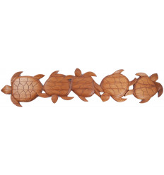 Decor wall turtle wood, a frieze made by hand in Bali.