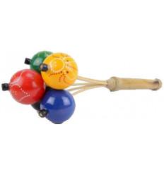 Maracas con palline colorate - musica, Strumento e oggetto di deco
