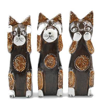 Decoration cat. Statuettes cats of wisdom house of the world.