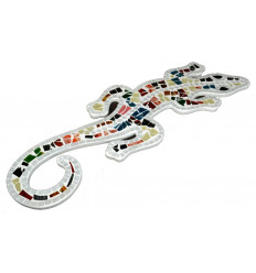 Gecko salamander wall decoration ethnic original multicolored.